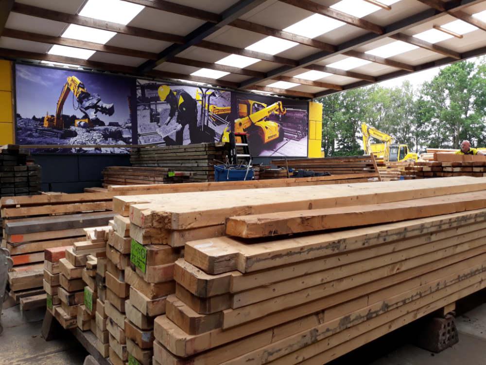 Gebuikte bouwmaterialen hout